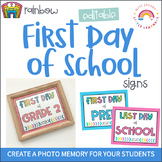 First Day of School Signs   2020   EDITABLE