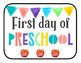 First Day of School Signs (watercolor)
