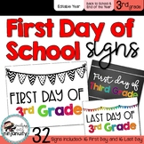 First Day and Last Day of School Signs - 3rd Grade