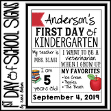First Day of School Signs: PDF & Distance Learning Google Slides