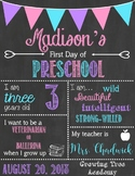 First Day of School Signs - Back to school