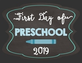 First Day of School Signs-Chalkboard Blue