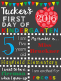 First Day of School Signs {{Editable}}