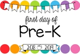First Day of School Signs **Editable** (Rainbow Pop)