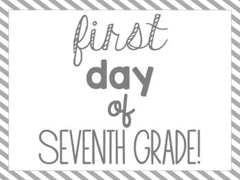 First Day of School Signs FREEBIE!