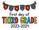2016 - 2017 First Day of School Signs FREEBIE: Preschool, PreK, Kinder, 1st, 2nd