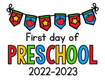 graphic regarding First Day of Preschool Sign Free Printable known as 2019 - 2020 Initial Working day of College or university Signs and symptoms FREEBIE: Preschool, PreK, Kinder, 1st, 2nd