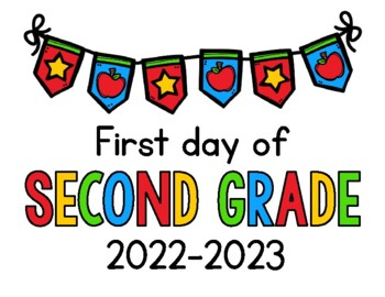picture about First Day of Second Grade Printable Sign identified as 2019 - 2020 Very first Working day of College or university Signs and symptoms FREEBIE: Preschool, PreK, Kinder, 1st, 2nd