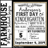Farmhouse First Day of School Signs {PDF & Distance Learning Google Slides}