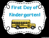 First Day of School Signs - Kindergarten (Black Background)