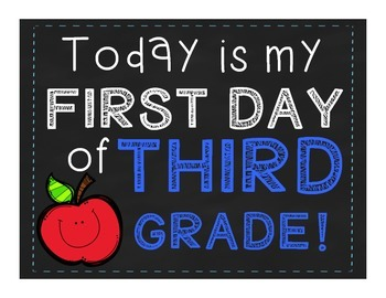 First Day of School Signs PreK-6