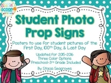 First Day of School Signs: Student Picture Photo Props Freebie