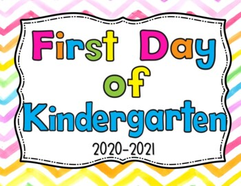 First Day of School Signs and Last-Colorful watercolor