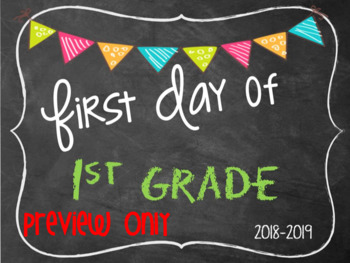 First Day Of School Signs 2018 2019 Teaching Resources Teachers