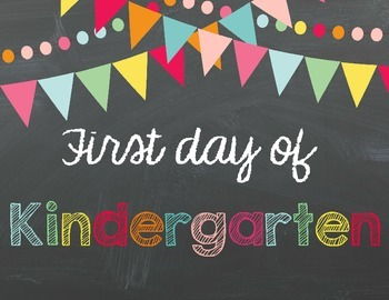 First Day of School Signs (and last day too!)