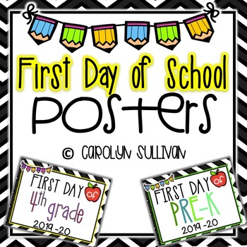 First Day of School Signs for Elementary School