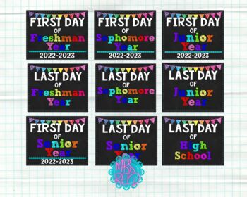 First Day of School Signs for High School