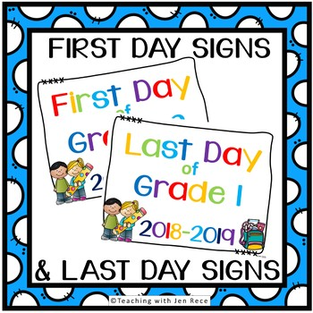 First Day of School Signs for Pre-k to Grade 8 {for Canadian students}