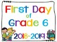 First Day of School Signs for Pre-k to Grade 8 {for Canadi