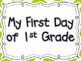 First Day of School Signs for Student Pictures
