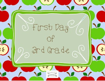 First Day of School Signs for all grades in Apple Pattern.