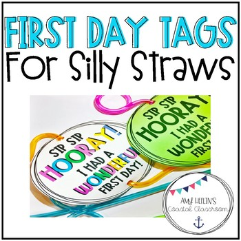 First Day of School Silly Straw Tags