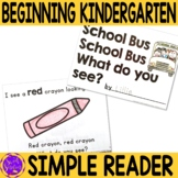 First Day of School Easy Reader