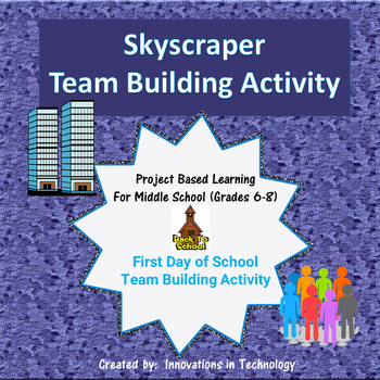 First Day of School - Skyscraper Team Building Activity (Back to School)