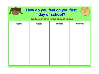 First Day of School Smart Notebook Activity