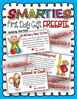 First Day of School Smartie Gifts