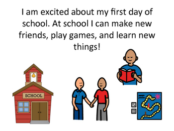 First Day of School Social Story