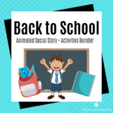 First Day of School Social Story and Activities Bundle for
