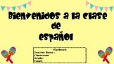 First Day of School Spanish Class Syllabus- El primer dia de clase de español