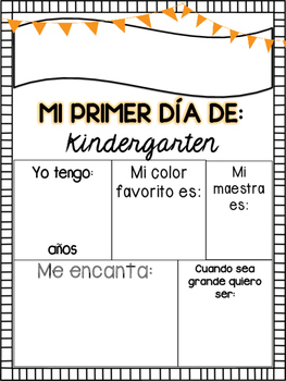First Day of School Spanish Posters