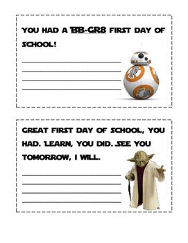First Day of School-Star Wars