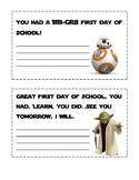 First Day of School-Star Wars