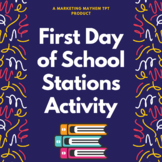 First Day of School Stations Activity
