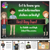 Back to School First Week of School Activity Stations!