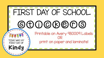 First Day of School Stickers