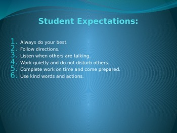 First Day of School  Student Expectations ppt - Rick Morris strategies