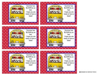 First Day of School Student Gifts Tags and Toppers Set