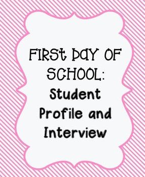 First Day of School: Student Profile & Interview