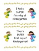 Kindergarten First Day of School Super Hero Certificates - 4 Kinds!