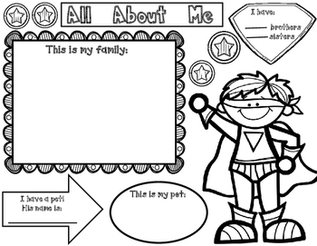 All About Me:  Super Hero Theme Unit