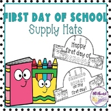 First Day of School Supply Hats