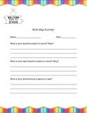 First Day of School Survey-Colorful!