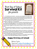 First Day of School Survival Kit for Parents