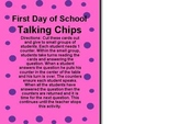 First Day of School Talking Chips