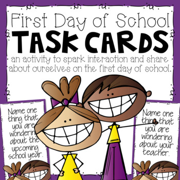 First Day of School Task Cards