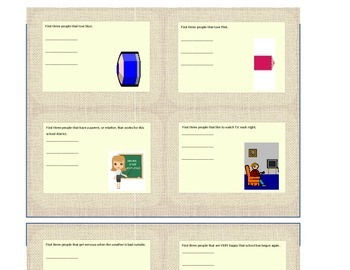 First Day of School Task Cards for Grades 3-5